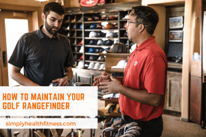 Man getting advice in golf shop