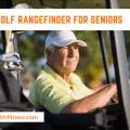 senior golf player in golf cart