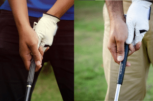 different golf grips
