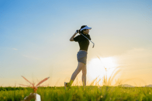 women golfer follow through