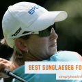 woman golfer with glasses