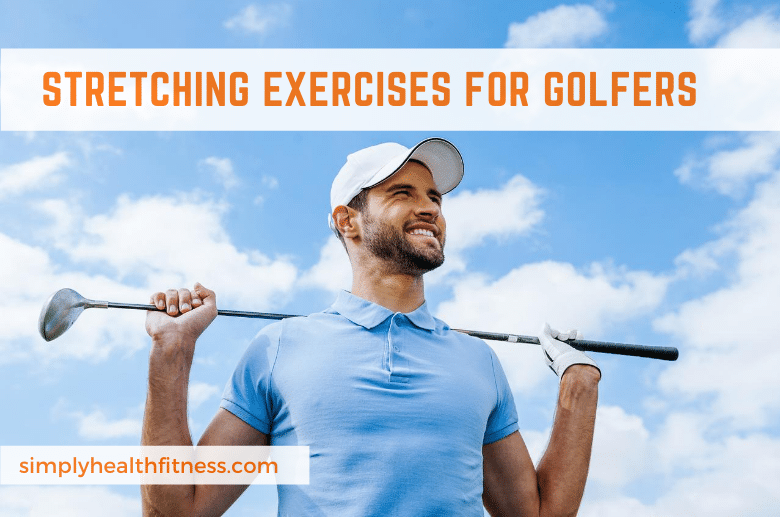man stretching with golf club